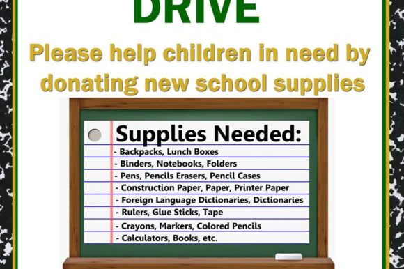 Saladino: Town Partners with LI Cares to Collect School Supplies for Disadvantaged Students