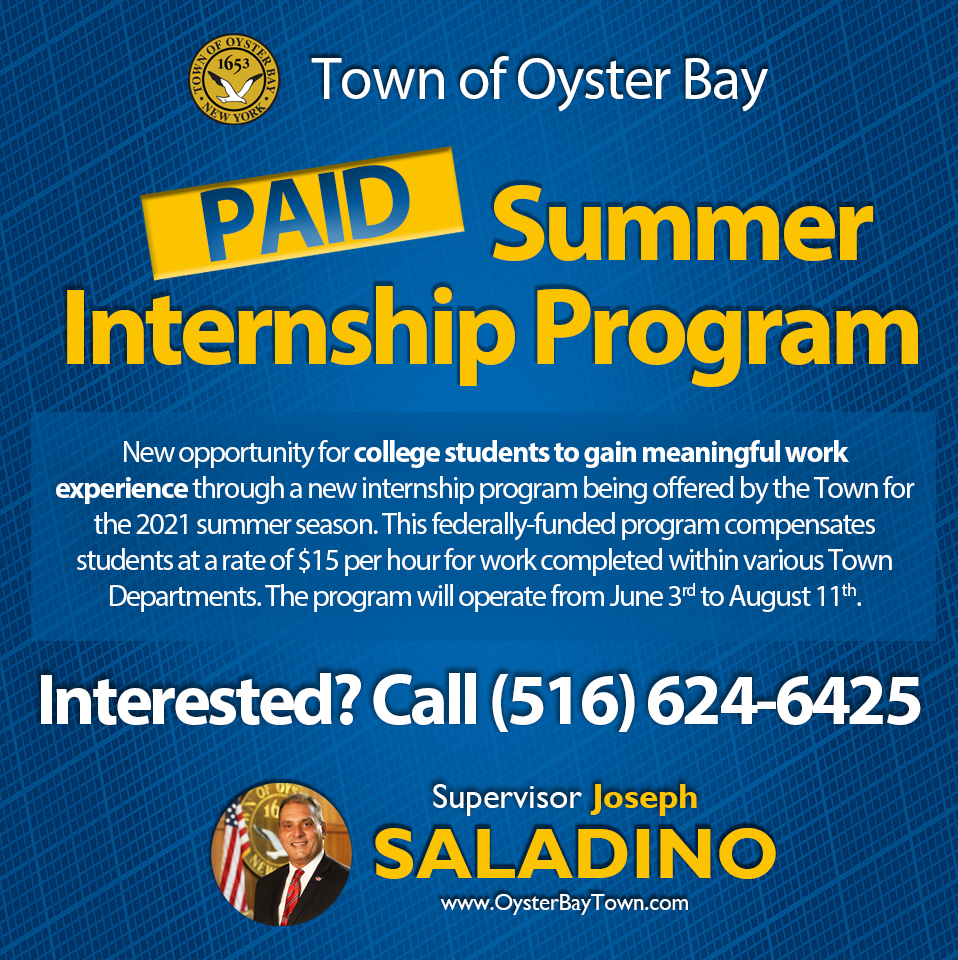 Saladino Announces Return of Paid Internship Opportunities for College Students