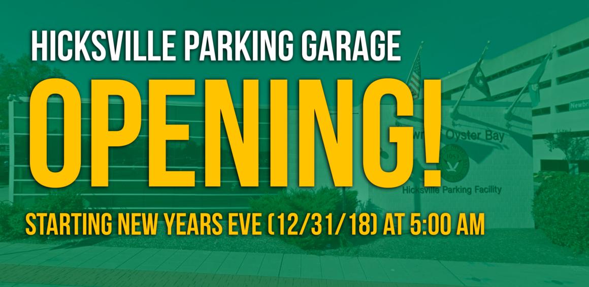 Saladino: Hicksville Commuter Parking Garage now open