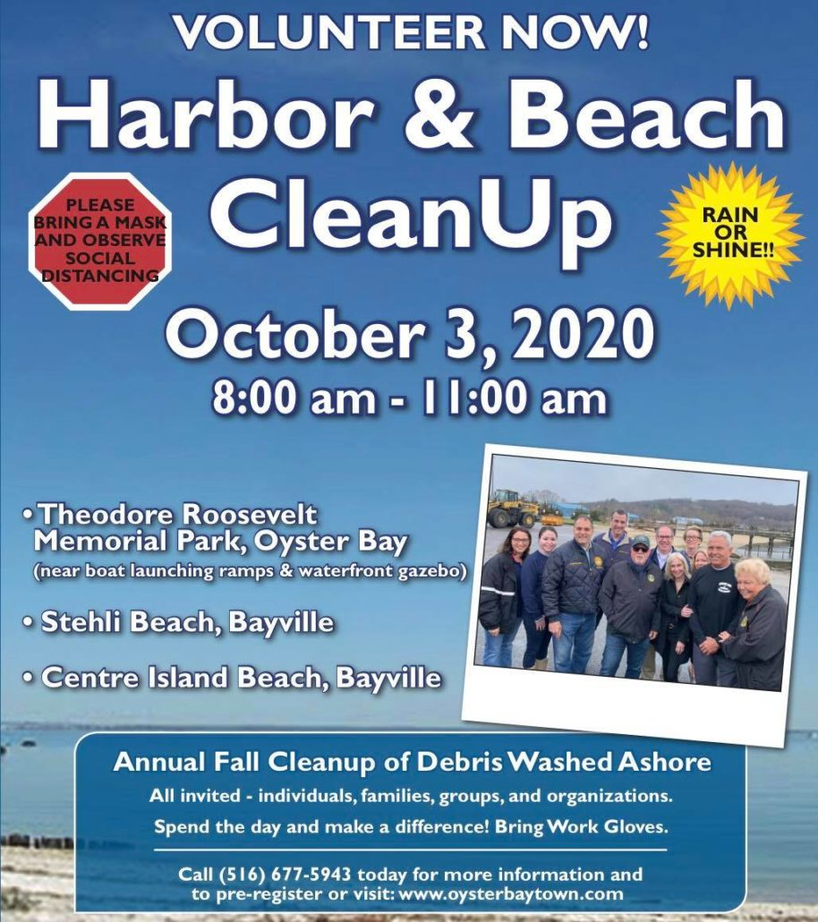 Saladino and Town Board Seek Volunteers for Oyster Bay Harbor Environmental Cleanup