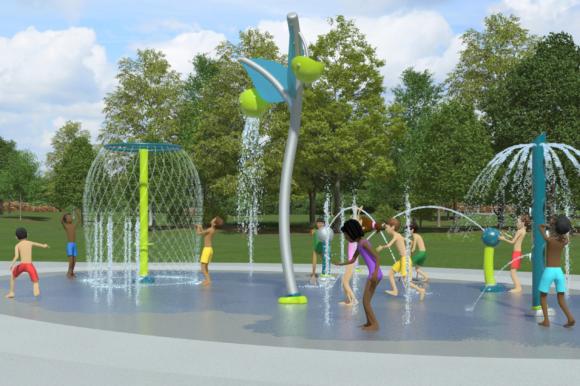 Upgraded Spray Park New Marina Playground Coming Soon to TOBAY Beach this Summer