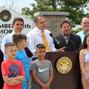Supervisor Saladino Officially Kicks off the Summer Season at TOBAY Beach