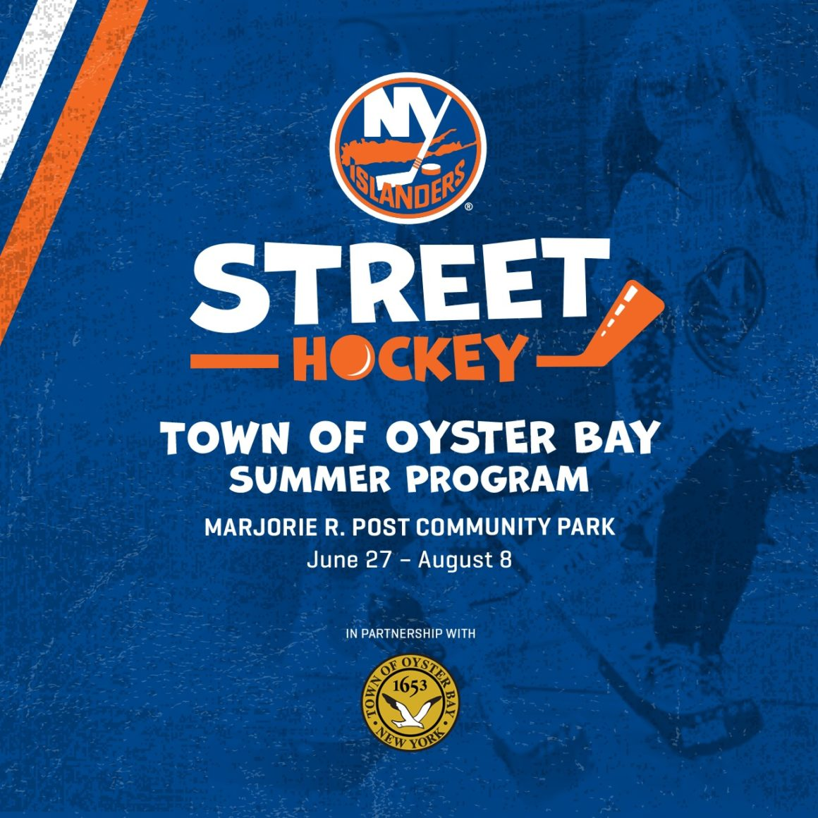 Town Partners with NY Islanders for Street Hockey Summer Program for Children
