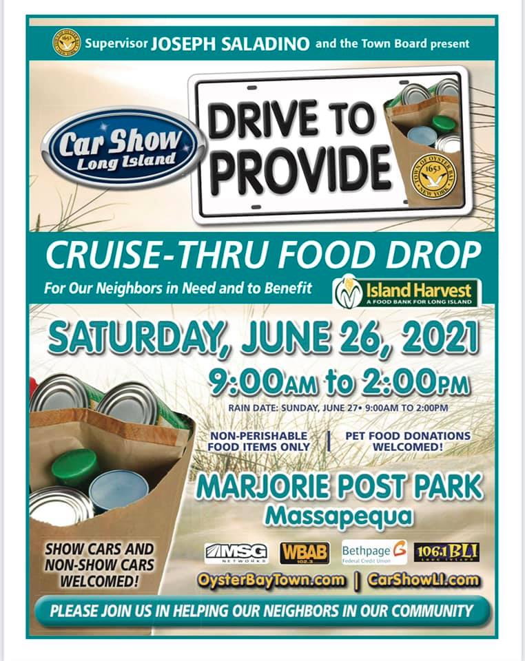 Saladino Announces Cruise Thru Food Drop Collection Drive for June 26th