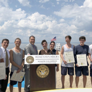 Town Reunites Drowning Victim With Heroic Lifeguards who Saved her