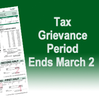 Tax Grievance ends March 2nd