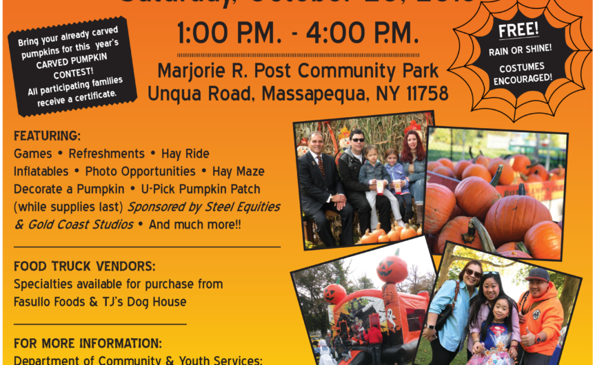Saladino Invites Residents to Free Family Fall Halloween Festival
