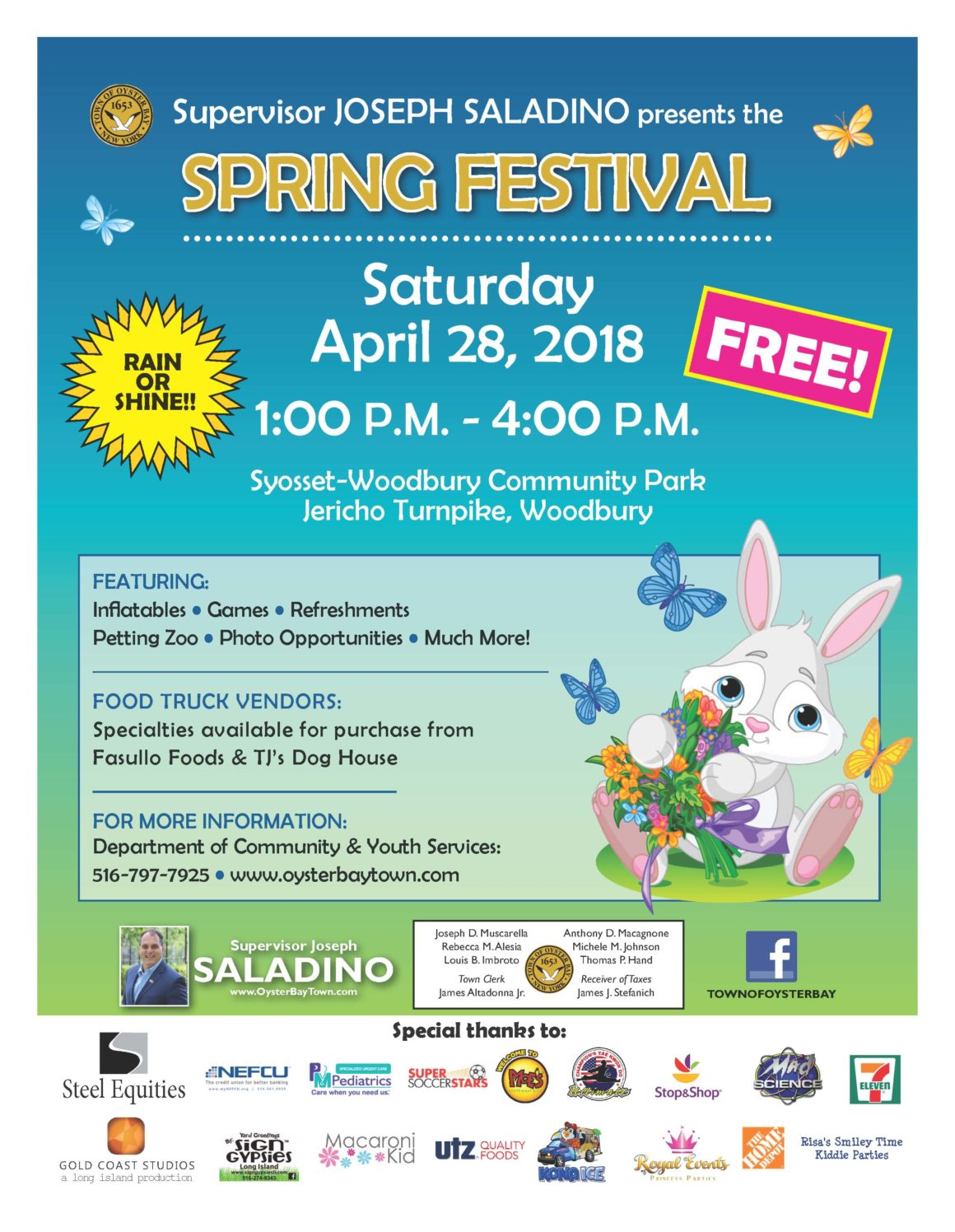 Saladino Announces Free Family-Fun Spring Festival