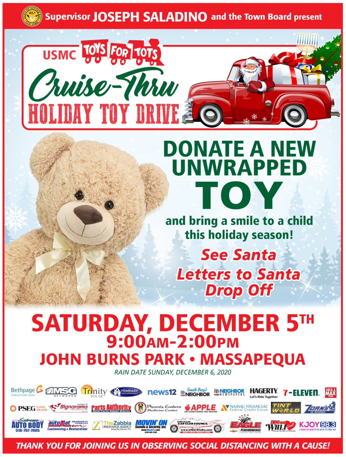 Cruise-Thru Holiday Toy Drive