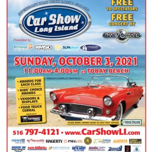 Long Island's Largest Car Show Takes Place Sunday, October 3rd at TOBAY Beach