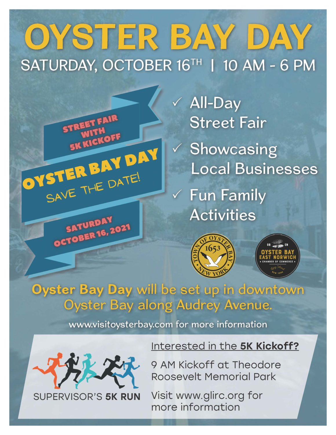 Saladino and LaMarca Invite Residents to 'Oyster Bay Day' Saturday, October 16th