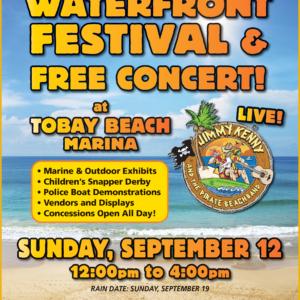 Saladino Announces Free Concert and Waterfront Festival at TOBAY Beach Marina