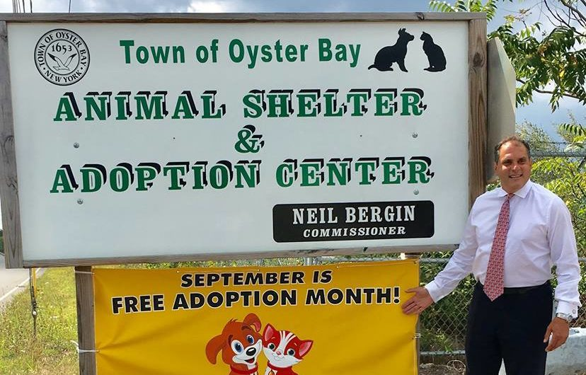 Saladino and Hand Declare September as Free Adoption Month at Town Animal Shelter