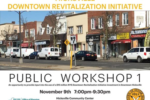 Saladino Announces First Public Workshop For Downtown Hicksville Revitalization Grant