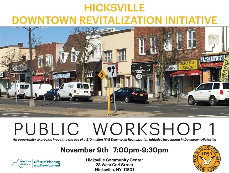 Saladino Announces First Public Workshop For Downtown Hicksville Revitalization Grant