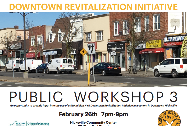 Saladino And Alesia Announce Third Public Workshop For Downtown Hicksville Revitalization Grant