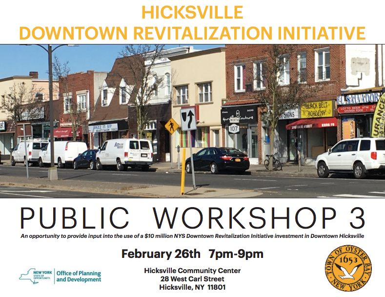 Downtown Revitalization Covers Photo : Hicksville downtown revitalization initiative town of