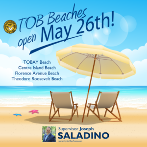 Saladino, Hand Announce Beaches Open Weekends Beginning May 26th