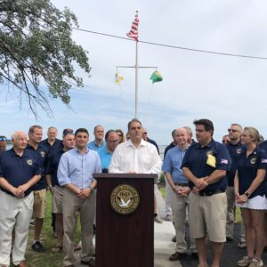 Town Officials and Oyster Bay Lions Club Unveil New Overlook Beautification Project at Beekman Beach