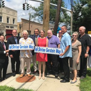 Saladino and Hand Dedicate Oyster Bay Street in Memory of Shirlee Gerstein for Remarkable Community Service