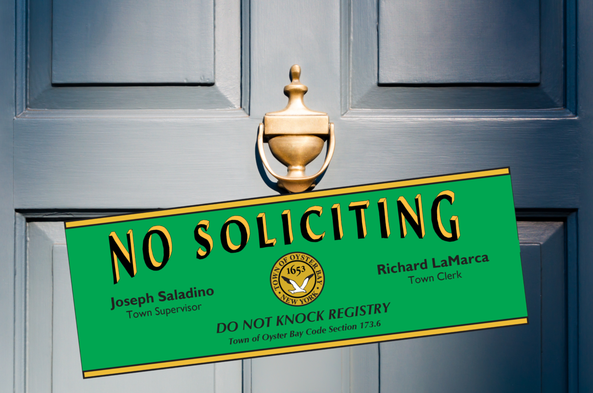 LaMarca Offers Residents Free 'Do Not Knock' Stickers