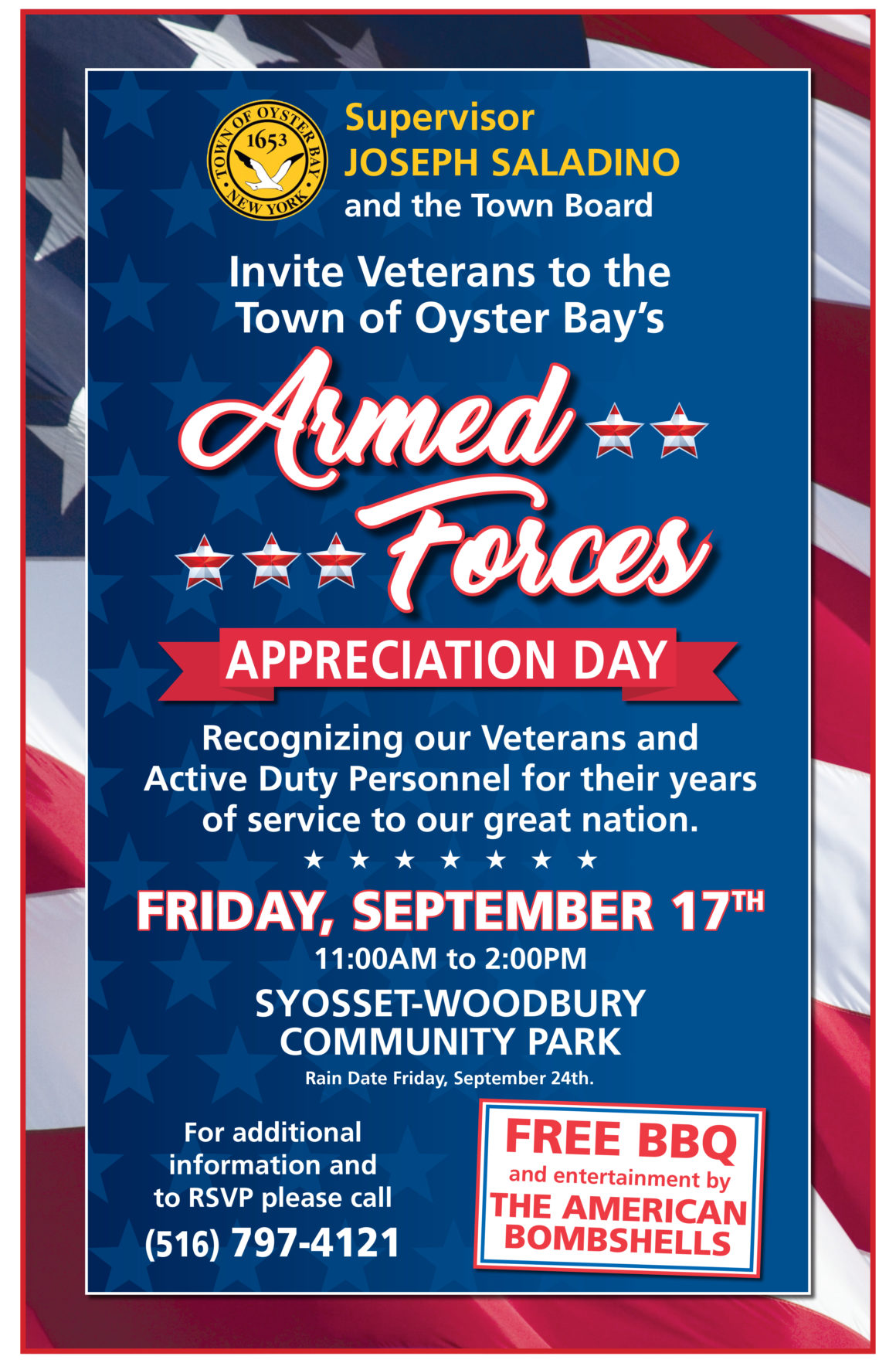 Town to Host Armed Forces Appreciation Day 2021 on Friday, September 17th