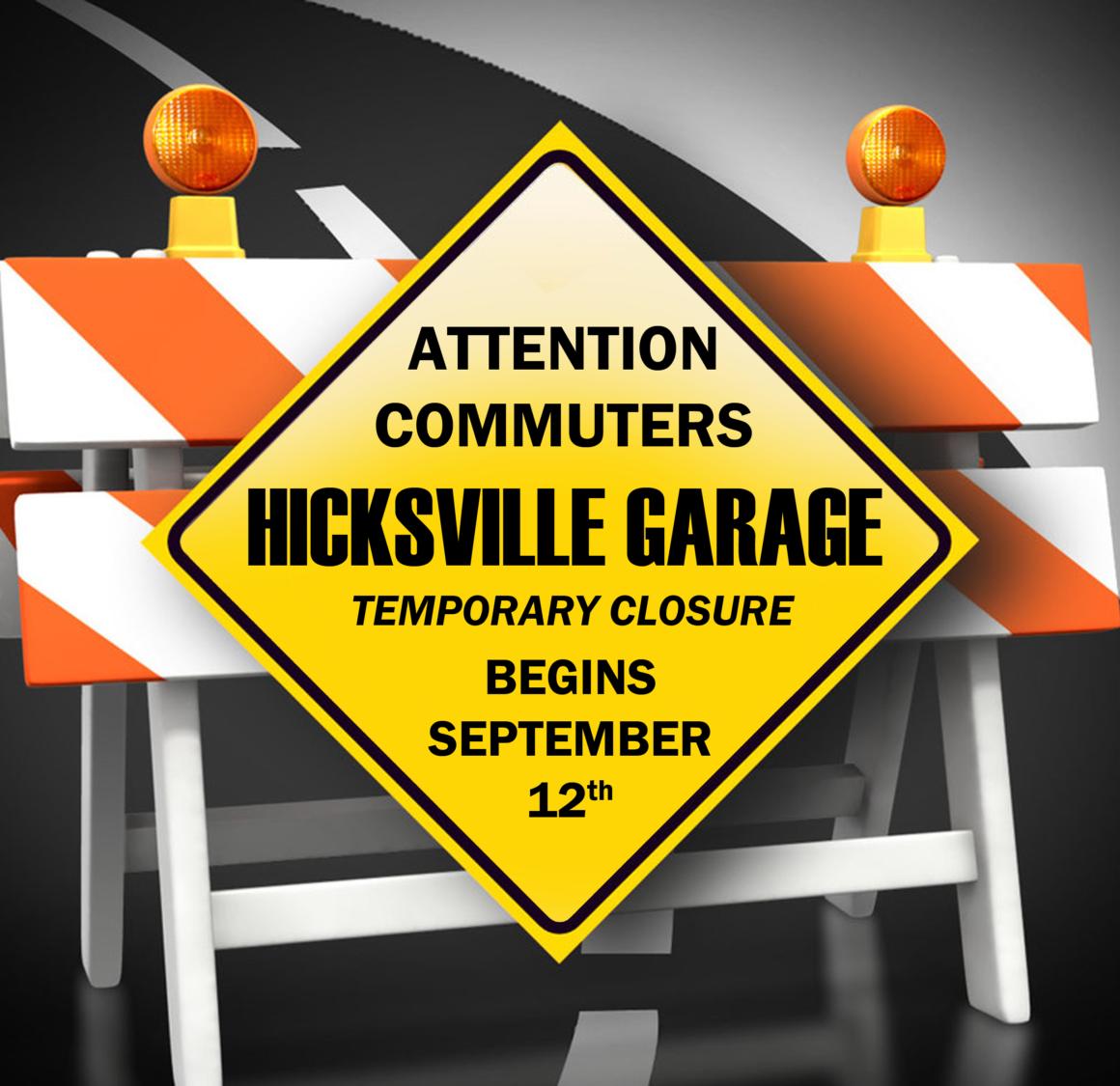 Hicksville Parking Garage to Undergo Repairs Beginning September 12th