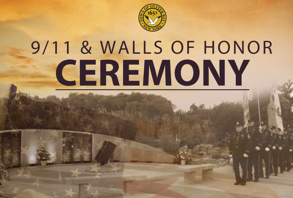 Town to Host September 11th Remembrance Ceremony at TOBAY Beach and Unveil New Walls of Honor for Victims of 9-11 Illness