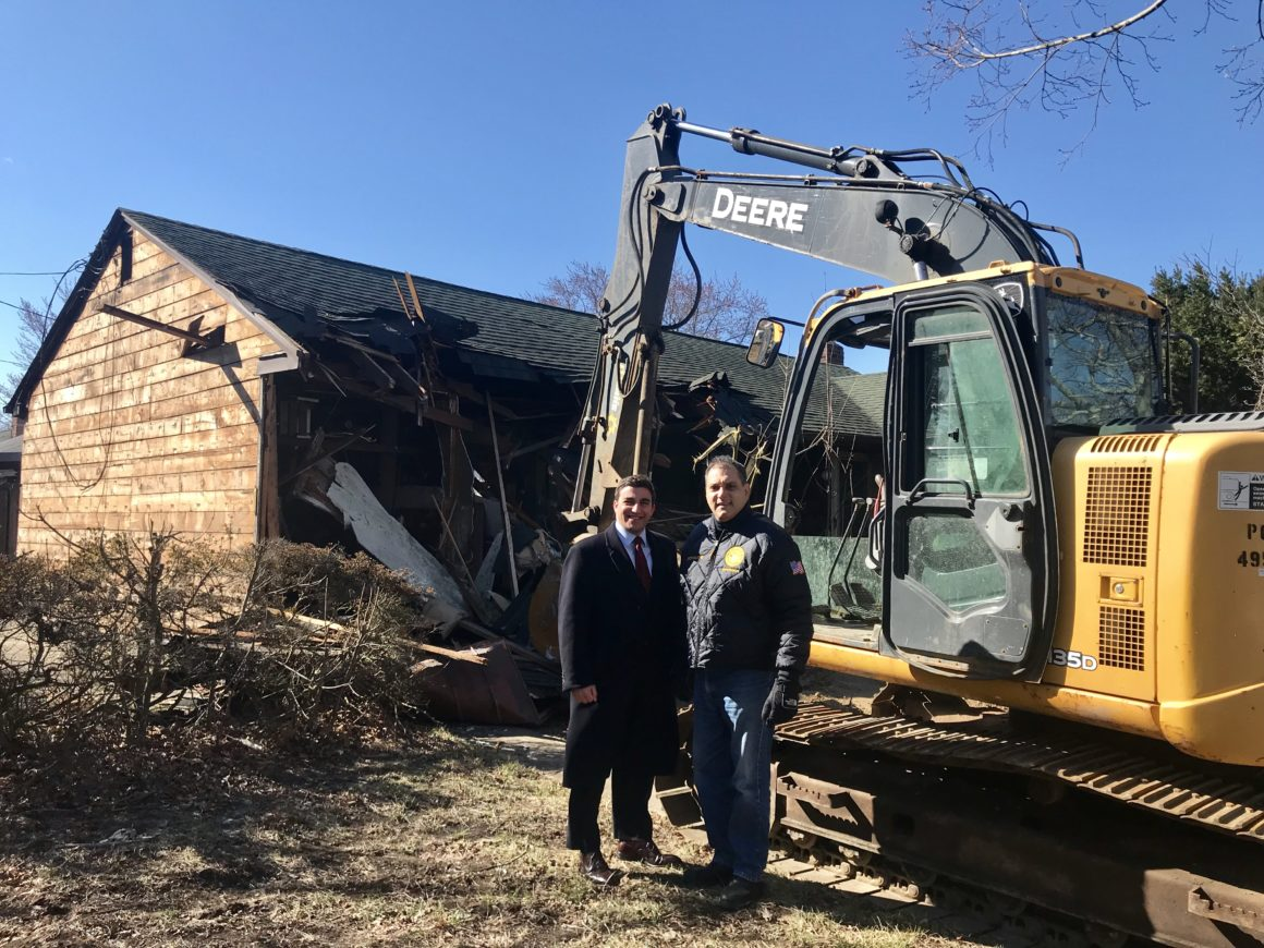 Town Continues Quality of Life Initiatives as Zombie Home Demolished in Bethpage