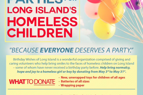 Collection Drive to Support Birthday Parties for Homeless Children