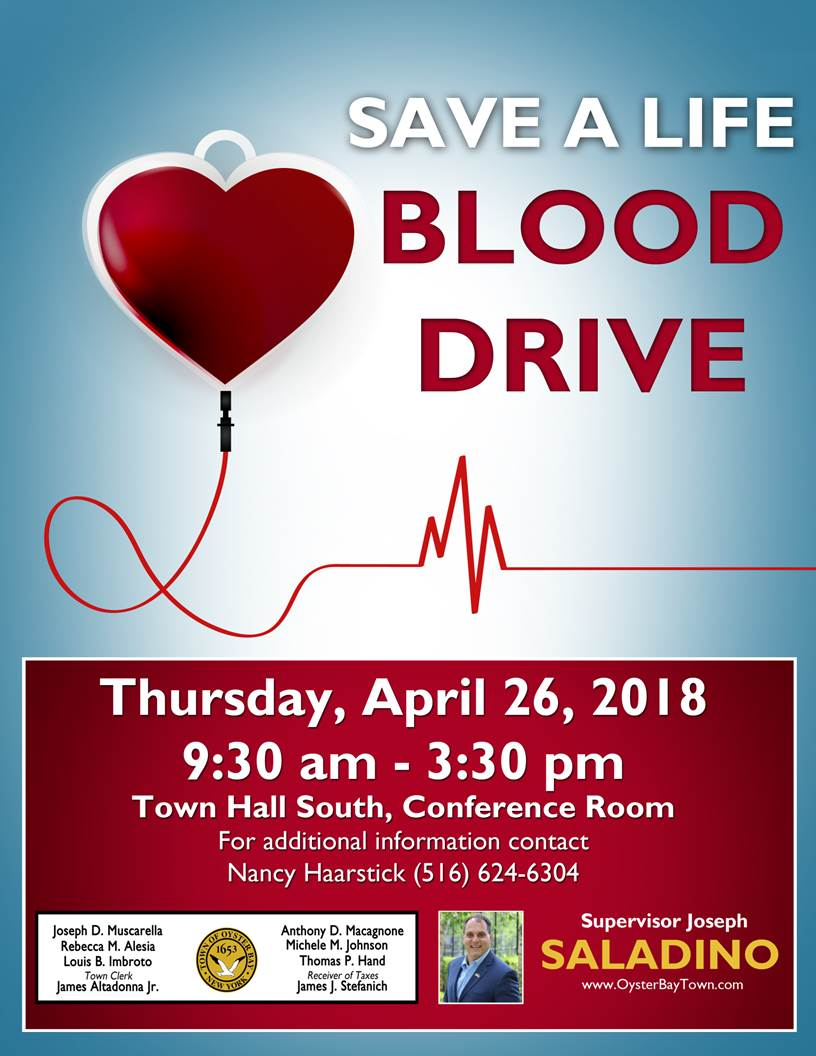 Saladino, Muscarella Urge Residents to Help Fulfill Blood Shortage by Donating on April 26th