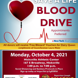 Johnson, Hand Urge Residents to Donate Blood as Supplies Are Needed to Help Replenish Hospitals