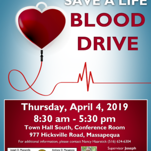 Muscarella Urges Residents to Help Fulfill Blood Shortage by Donating on April 4th