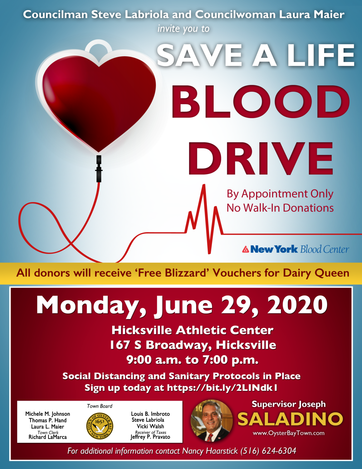 Residents Encouraged to Donate Blood June 29 in Hicksville