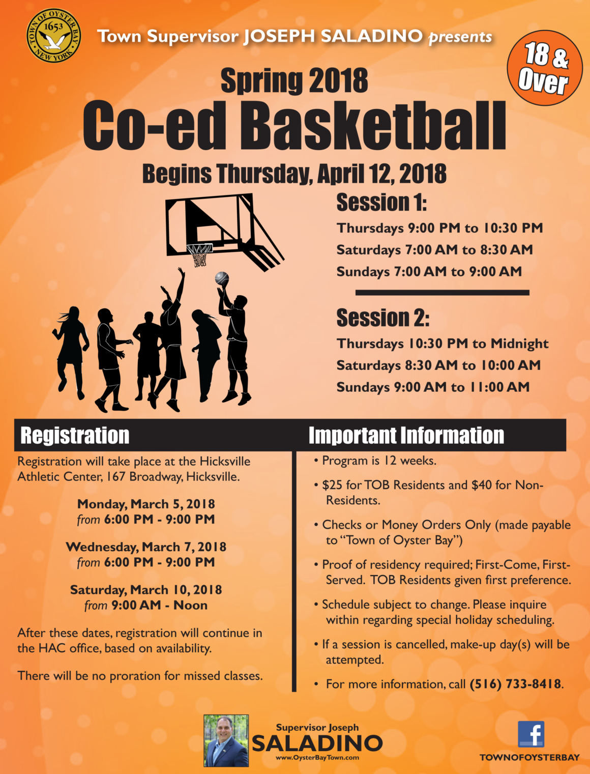 Johnson Announces Registration for Spring Co-Ed Basketball