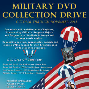Saladino and Town Board Announce DVD Collection Drive for U.S. Troops