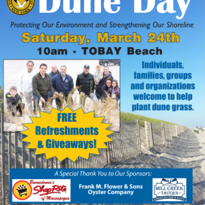 Saladino, Johnson Seek Volunteers for Dune Stabilization Project Slated for Saturday, March 24th at TOBAY Beach