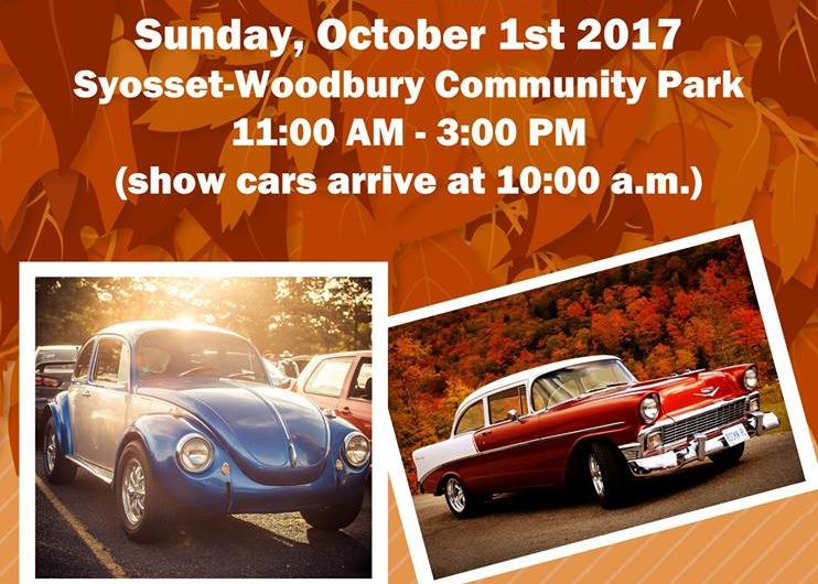 "Saladino Announces ""Fall Car Classic"" at Syosset-Woodbury Community Park On October 1st"