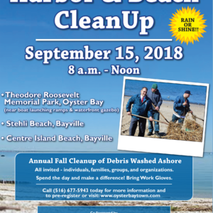 Saladino, Johnson Announce Fall Oyster Bay Harbor Cleanup September 15