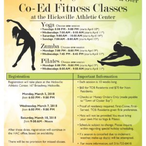 Councilman Hand Announces Registration for Spring Co-Ed Fitness Classes