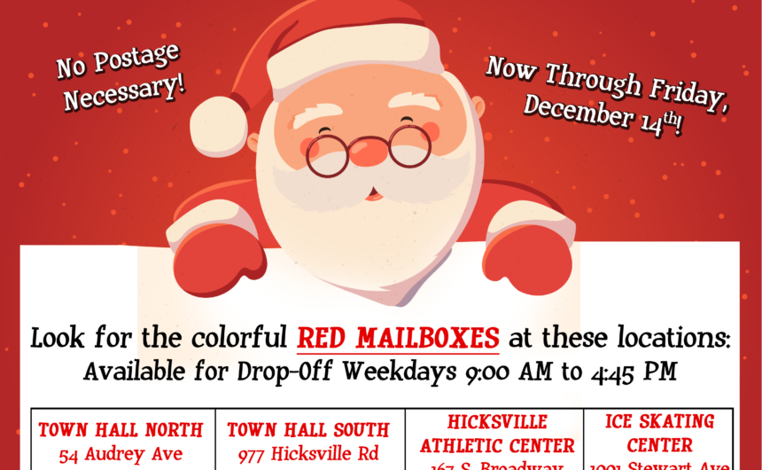 Saladino Brings Santa's Mailboxes From North Pole to Town Offices
