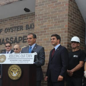 Saladino, Imbroto Break Ground for Renovation of North Massapequa Community Center