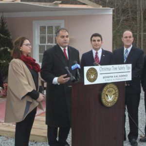 Saladino, Massapequa Firefighters & Fire Marshal Offer Christmas Tree Fire Safety Tips