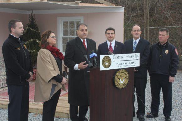 Saladino, Massapequa Firefighters & Fire Marshal Offer Christmas Tree Fire Safety Tips