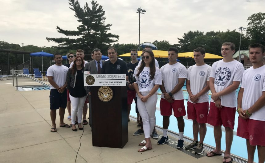 Saladino and Johnson Kick Off 2018 Pool Season While Unveiling Restroom Upgrades