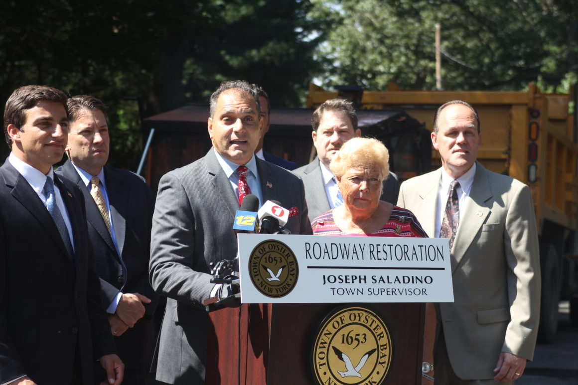 Saladino, Hand and County Legislators announce Operation Roadway Restoration