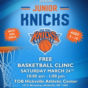 Saladino: Free Junior Knicks Basketball Clinic on Saturday March 24th
