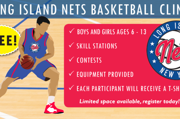 Saladino: LI Nets to Host Free Basketball Clinics at Town Facilities
