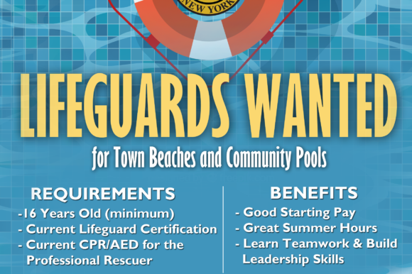 Saladino, Hand Announce Lifeguard Employment Opportunities at Town Pools & Beaches