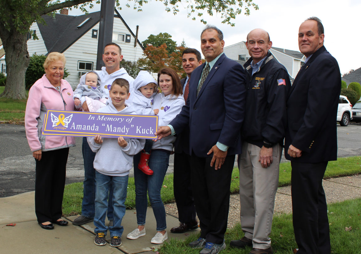 Street Dedication in Memory of Five Year-Old Amanda Kuck who Lost her Battle with Cancer